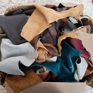 Large lot of Assorted Crafting Leather